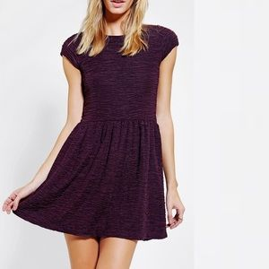 urban outfitters dark purple babydoll dress
